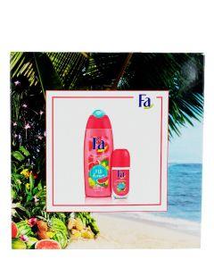 Fa Caseta femei:Gel de dus + Roll-On 250+50 ml Fiji Dream