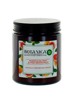 Airwick (Botanica) Lumanare odorizanta 205 g Moroccan Mint & Pink Grapefruit