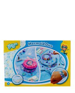 Jucarie Set creativ Mermaid Duo cutie de bijuterii+ bratari