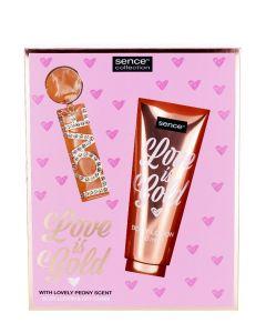 Sence Beauty Caseta femei:Lotiune de corp+ Breloc 150 ml Love Is Gold