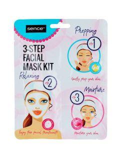 Sence Beauty Masca de fata 3in1 2ml+2ml+23ml