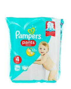 Pampers scutece chilotel nr.4  9-15 kg 24 buc Baby-Dry