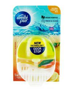 Ambi Pur Aparat odorizant WC+rezerva 55 ml 5in1 Lemon&Mandarin