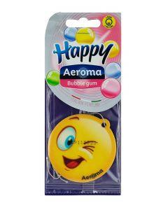 Happy Aeroma Odorizant auto 1 buc Bubble gum