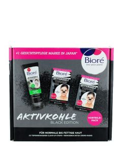 Biore Caseta femei:Masca de fata+Benzi curatare puncte negre 110ml+2x6 buc