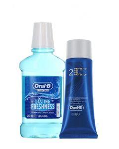 PROMO Oral-B Apa de gura+Gel de protectie 250+63 ml Arctic Mint