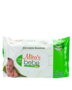 Mica's Bebe Servetele umede cu capac 108 buc Aloe Vera