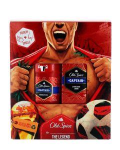 Old Spice Caseta:Stick deodorant+After Shave 50+100 ml Captain