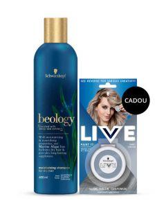 PROMO Schwarzkopf Beology Sampon 400 ml Dry Hair+Creta colorata pentru par 1 buc Grey Crush GRATIS