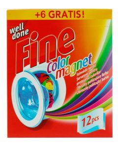 Well Done Fine Absorbant de culoare 12+6(Gratis) buc Color Magnet