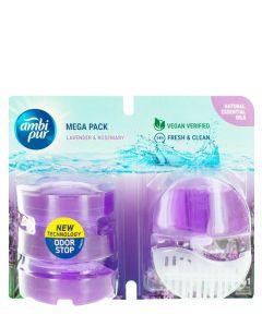 Ambi Pur Aparat odorizant WC+4 X rezerve 55 ml Lavender & Rosemary