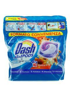 Dash Detergent Capsule 40 buc All in1 Ambra
