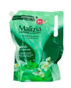Malizia Sapun lichid rezerva 1 L Menta Verde