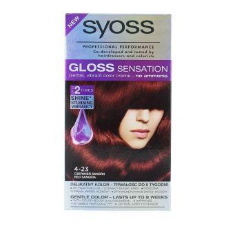 Syoss Vopsea de par Gloss Sensation 4-23 Red Sangria
