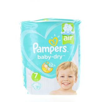 Pampers Baby Dry 7 Air Channels 15+ kg 21 buc