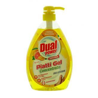 Dual Power detergent pentru vase cu pompa 1000 ml Agrumi