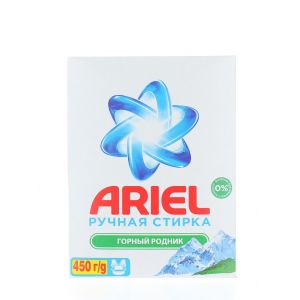 Ariel Detergent manual in cutie 450 g Montain Spring
