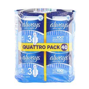 Always Absorbante Quattro Pack 40 buc Night