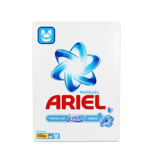 Ariel Detergent manual in cutie 450 g Touch of Lenor