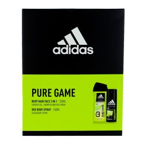 Adidas caseta barbati:Gel de dus+Spray deodorant 250+150ml Pure Game