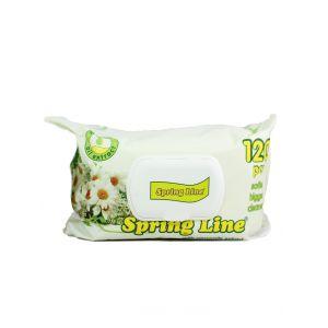 Spring Line Servetele umede cu capac 120 buc Camomile