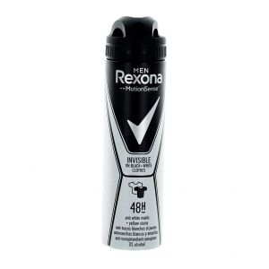 Rexona Spray deodorant barbati 150 ml Invisible Black&White