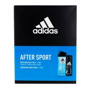 Adidas caseta barbati:Gel de dus+Spray Deodorant 250+150 After Sport
