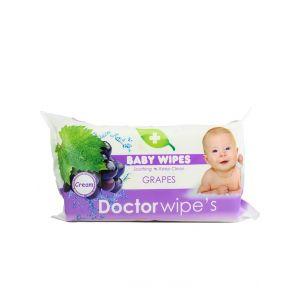 Dr. Wipe's Servetele umede 60 buc fara capac Grapes
