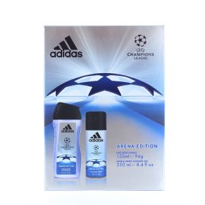 Adidas caseta barbati:Gel de dus+Spray Deodorant 250+150ml Champions League