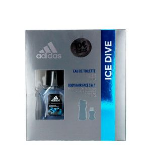 Adidas caseta barbati:Parfum+gel de dus 50+250 ml Ice Dive