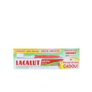 Lacalut Pasta de dinti 75 ml Aktiv+Periuta de dinti