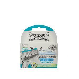 Wilkinson Rezerva 2 buc Quattro Titanium Sensitive(4 lame)