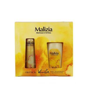 Malizia Caseta femei:Spray deodorant+Gel de dus 150+250 ml Vanilla