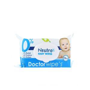 Dr. Wipe's Servetele umede baby 72 buc cu capac Neutro