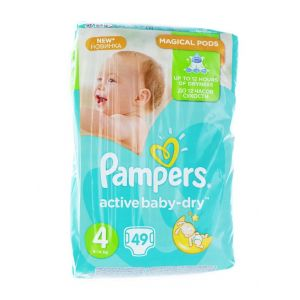 Pampers Active Baby Dry nr.4 Maxi 8-14 kg 49 buc