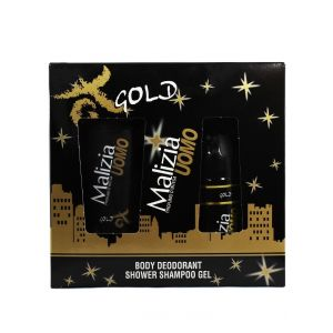 Malizia Caseta barbati:Gel de dus+Spray deodorant 250+150 ml Gold