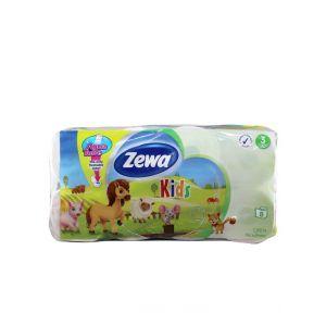 Zewa Hartie toaleta 3 straturi Deluxe 8 role Kids