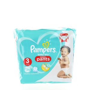 Pampers Scutece chilotel nr. 3 Midi 6-11 kg 26 buc Baby-Dry