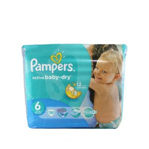 Pampers Active Baby Dry nr.6 Extra Large 15+kg 36 buc