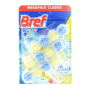 Bref Odorizant WC cu bile 3x50g Power Aktiv Lemon