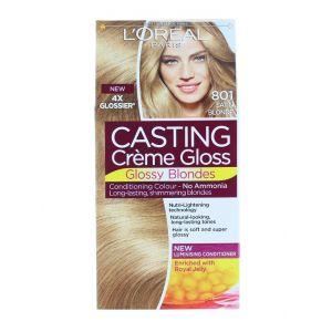 L'oreal Vopsea de par Casting Creme Gloss 801 Satin Blonde