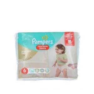 Pampers scutece chilotel nr. 6 15+ kg 36 buc Premium Care