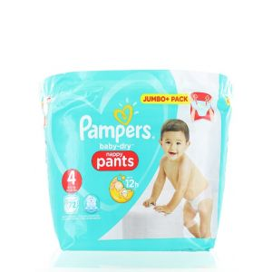 Pampers Scutece chilotel nr. 4 Maxi 9-15 kg 72 buc Baby-dry