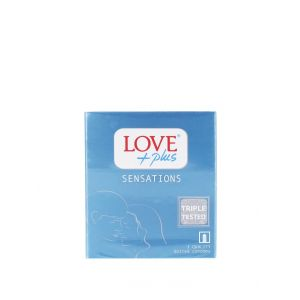 Love Plus prezervative 3 buc Sensation