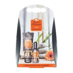 Tesori D'oriente caseta:Gel de dus + Parfum 250+100 ml Fleur de Lotus