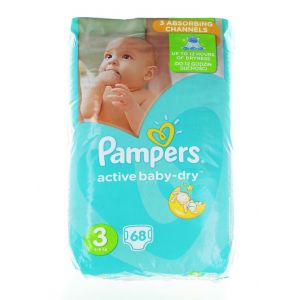 Pampers Scutece nr.3 5-9 kg 68 buc Active Baby-Dry