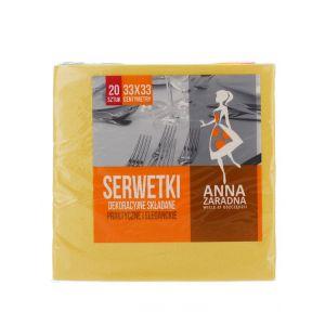 Anna Servetele de masa 3 straturi 20 buc 33x33 cm Galben