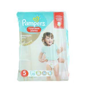Pampers scutece chilotel nr. 5 11-18 kg 40 buc Premium Care