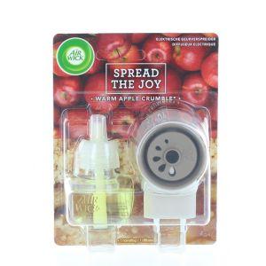 Airwick Aparat Odorizant priza+rezerva 19 ml Warm Apple Crisp