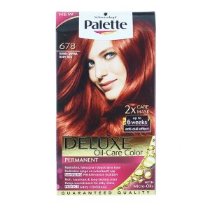 Palette Vopsea de par Deluxe Oil-Care Color 678 Ruby Red